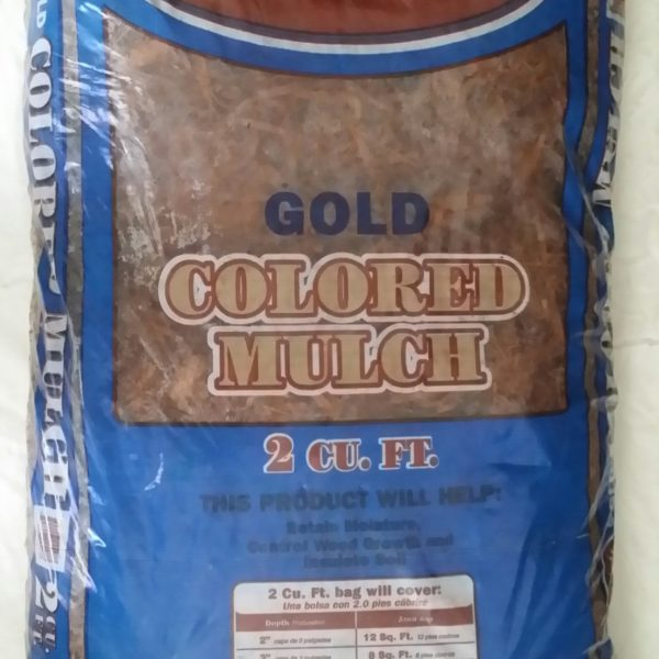 Natural Appeal Gold dyed Mulch - BAG